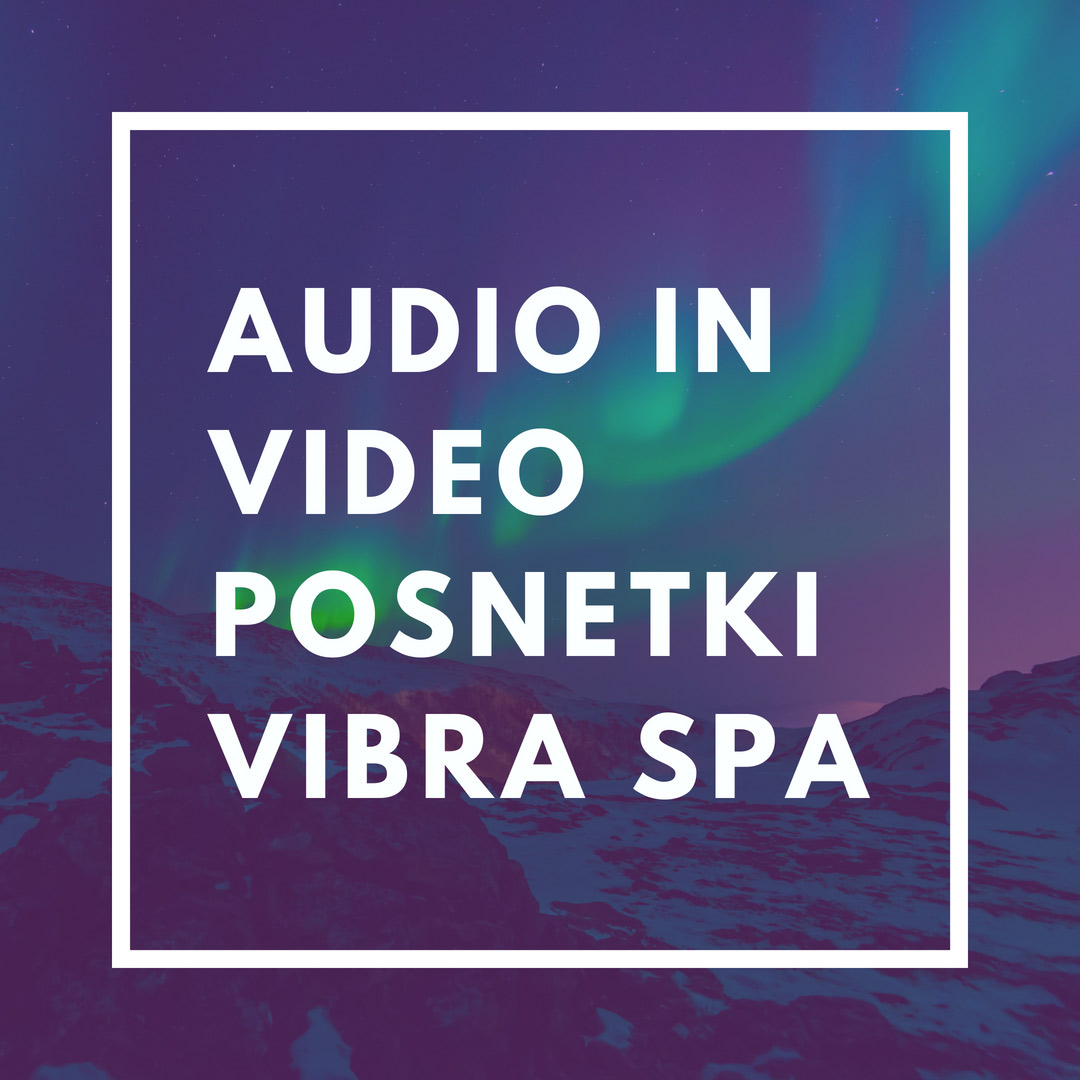 Audio in video posnetki